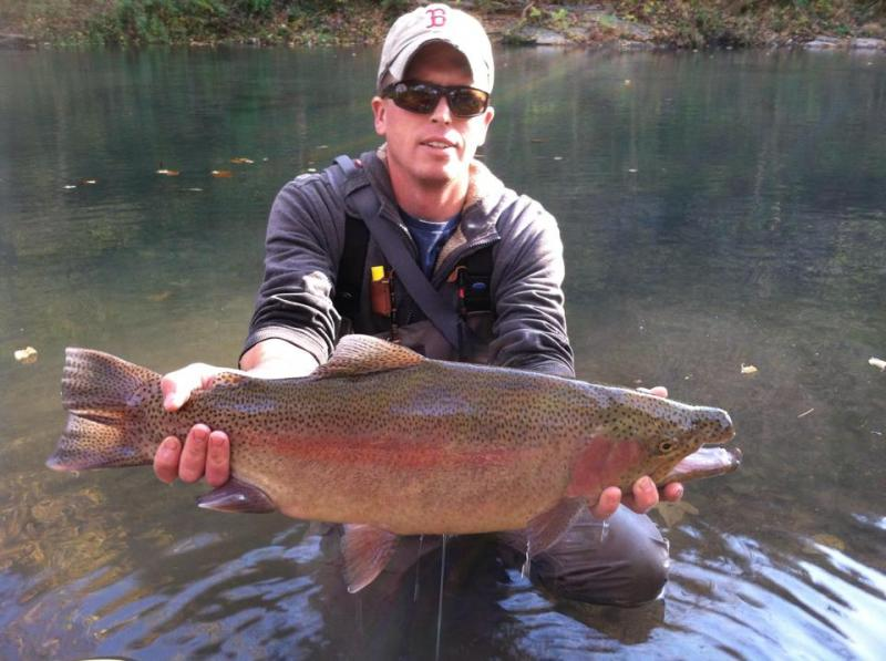 26 rainbow at roaring river mega worm scores again for Roaring river fishing