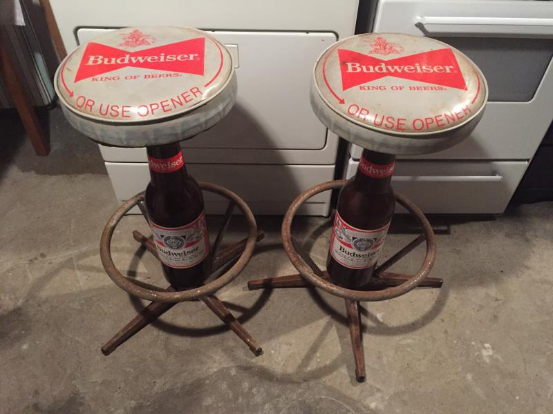 official photos 4d647 16f98 Vintage Budweiser Bar Stools for Sale - Buy - Sell - Trade ...