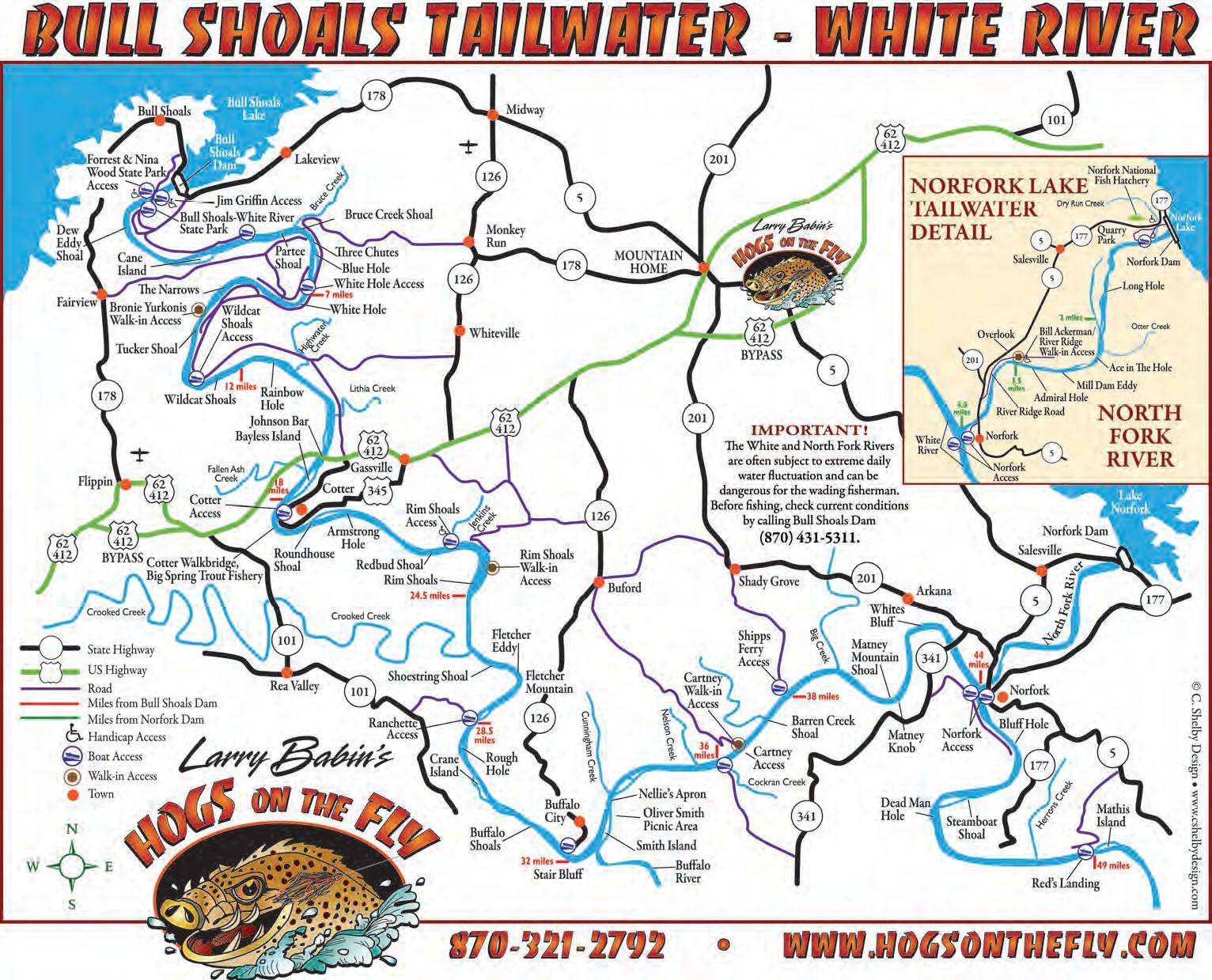 map of white river in arkansas River Maps Access White River Ozarkanglers Com Forum map of white river in arkansas